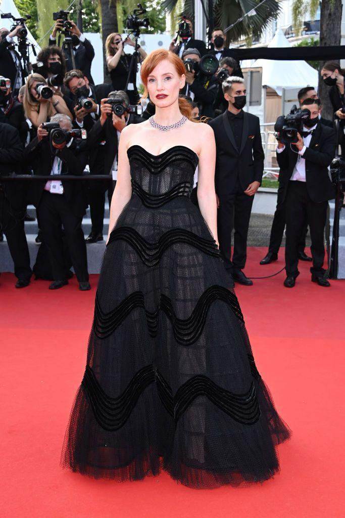 <p>Chastain wore a Christian Dior Couture gown.</p>