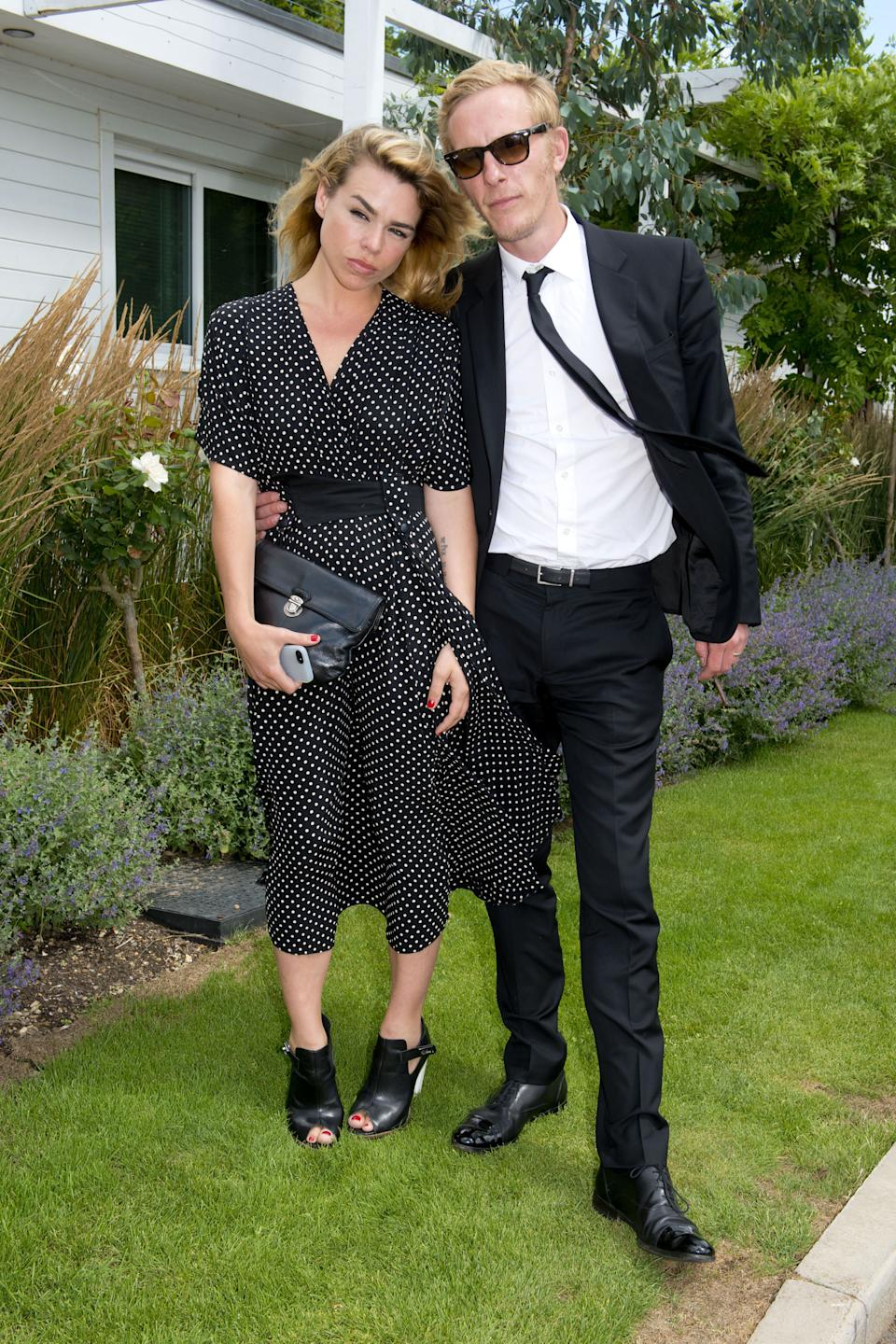 Billie Piper and Laurence Fox attending the Audi International Polo featuring the Westchester Cup, at Guards Polo Club in Egham, Surrey.