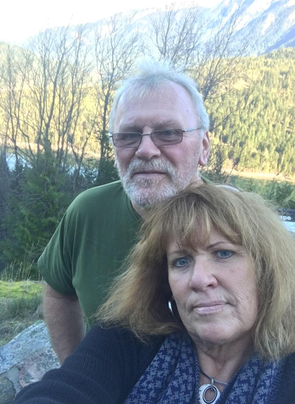 Sally Fowler and her boyfriend, John, out searching for Kris.