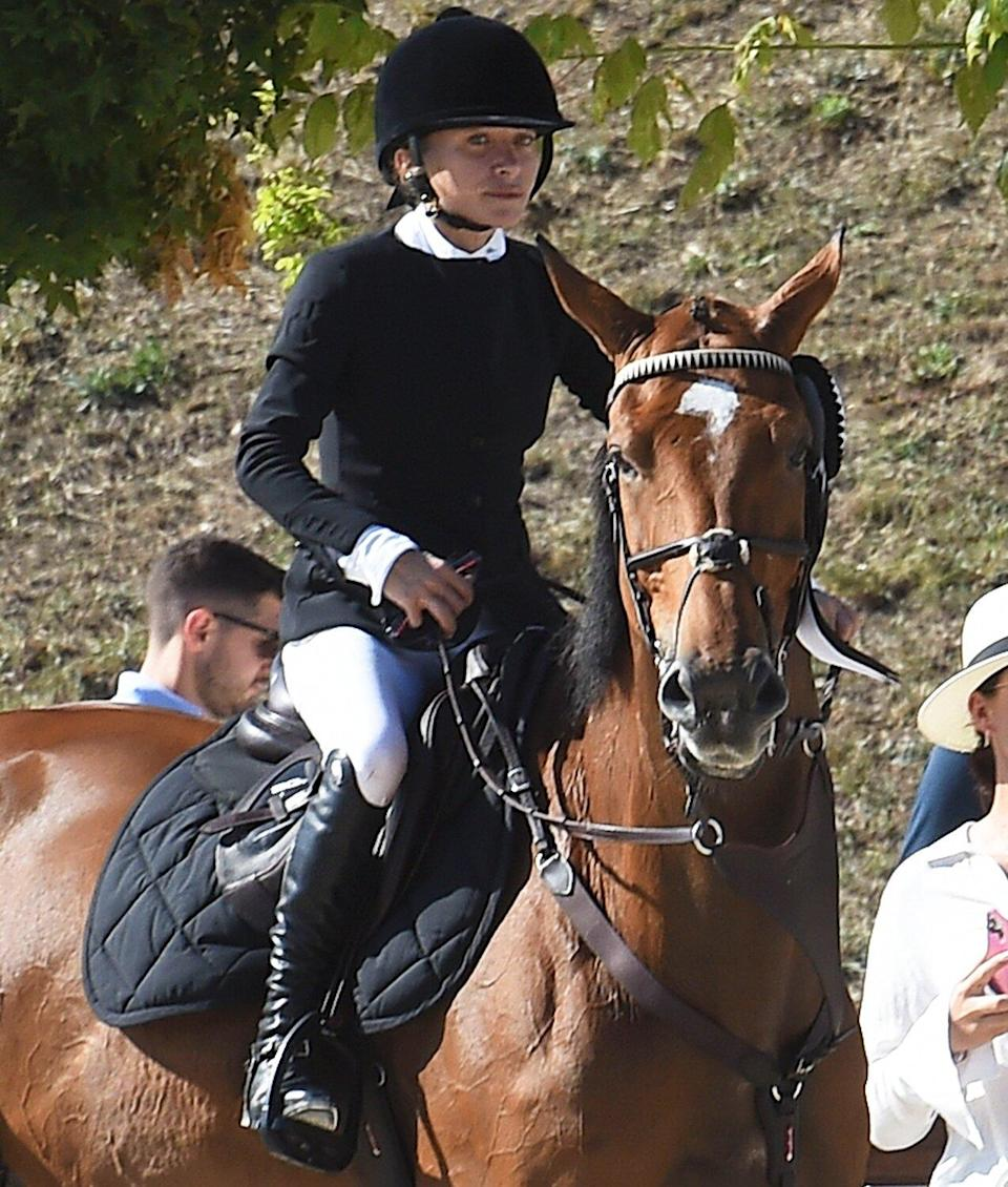Mary-Kate Olsen finished in third place at the Longines Equestrian Tour in Rome. 18 Sep 2021 Pictured: Mary-Kate Olsen.