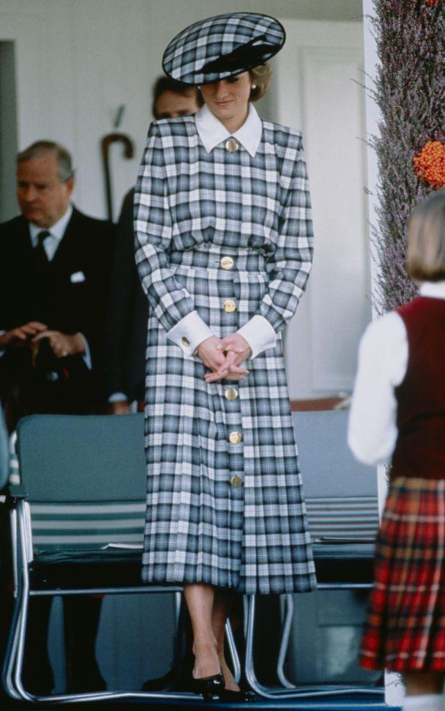 <p>Tartan from head to toe. </p>