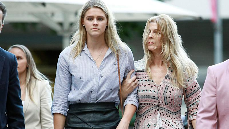 Shayna Jack, pictured here after a hearing with ASADA in Brisbane.