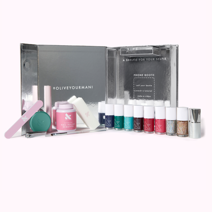 "<h2>Olive & June The Mani System</h2><br><strong>Resolution: DIY More</strong><br>Whether you were a nail salon devotee before 2020 or are a total nail polish novice, learning how to master a manicure is a great skill to hone in 2021. This Olive & June starter kit is the perfect way to practice the art of stay-at-home nails and can transform you into an acrylics connoisseur. In fact, tune in to Olive & June's free seven-day salon-perfect nails boot camp starting January 24 on <a href=""https://www.instagram.com/oliveandjune/"" rel=""nofollow noopener"" target=""_blank"" data-ylk=""slk:Instagram"" class=""link rapid-noclick-resp"">Instagram</a> if you really want to get serious. <br><br><em>Shop</em> <strong><em><a href=""http://oliveandjune.com"" rel=""nofollow noopener"" target=""_blank"" data-ylk=""slk:Olive & June"" class=""link rapid-noclick-resp"">Olive & June</a></em></strong><br><br><strong>Olive & June</strong> The Mani System (6 Polishes), $, available at <a href=""https://go.skimresources.com/?id=30283X879131&url=https%3A%2F%2Ffave.co%2F3kZBA7a"" rel=""nofollow noopener"" target=""_blank"" data-ylk=""slk:Olive & June"" class=""link rapid-noclick-resp"">Olive & June</a>"
