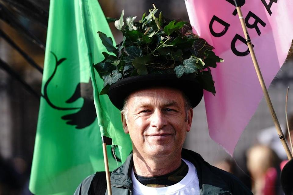 Mr Packham led a march to Buckingham Palace to deliver a petition on Saturday (PA) (PA Wire)