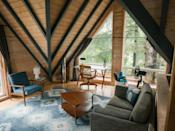 """<strong>Bedrooms:</strong> 4<br> <strong>Bathrooms:</strong> 2<br> <strong>Minimum stay:</strong> 2 nights<br> <br> Rounding out our list of the best Oregon Coast Airbnbs and vacation rentals, this Instagram-worthy Airbnb is a hop, skip, and a jump away from Haystack Rock, a must-see natural formation along the Oregon coast. It's a luxe, rustic charmer that feels like a true home away from home. Tufted puffins (bright, fanciful birds with yellow eyebrow tufts and a trademark orange bill) flock to Cannon Beach during April, May, June, and July. $275, Airbnb (Starting Price). <a href=""""https://www.airbnb.com/rooms/27987984"""" rel=""""nofollow noopener"""" target=""""_blank"""" data-ylk=""""slk:Get it now!"""" class=""""link rapid-noclick-resp"""">Get it now!</a>"""