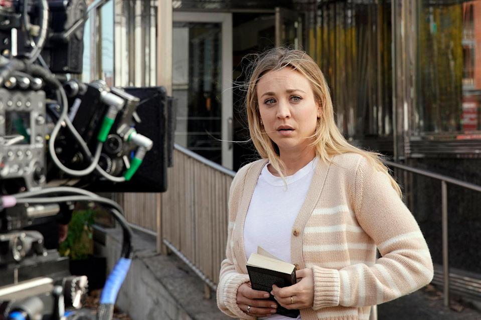 <p>Kaley Cuoco filmed her last day of production on HBO Max's <em>The Flight Attendant.</em></p>
