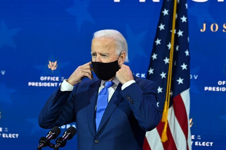 """US President-elect Joe Biden says """"help is on the way"""" for the ailing American economy"""