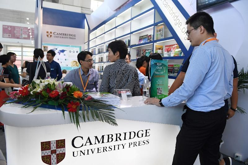 The censorship controversy that hit Cambridge University Press (CUP) sent a chill along the stands staffed by representatives of publishers from nearly 90 countries at the Beijing International Book Fair, which opened on Wednesday. (AFP Photo/Greg Baker)