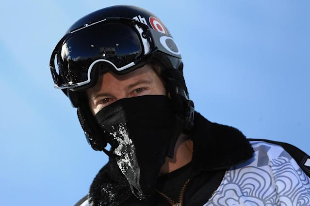 BRECKENRIDGE, CO - DECEMBER 14: Shaun White looks on as he finished second in the men's snowboard superpipe final at the Dew Tour iON Mountain Championships on December 14, 2013 in Breckenridge, Colorado. (Photo by Doug Pensinger/Getty Images)