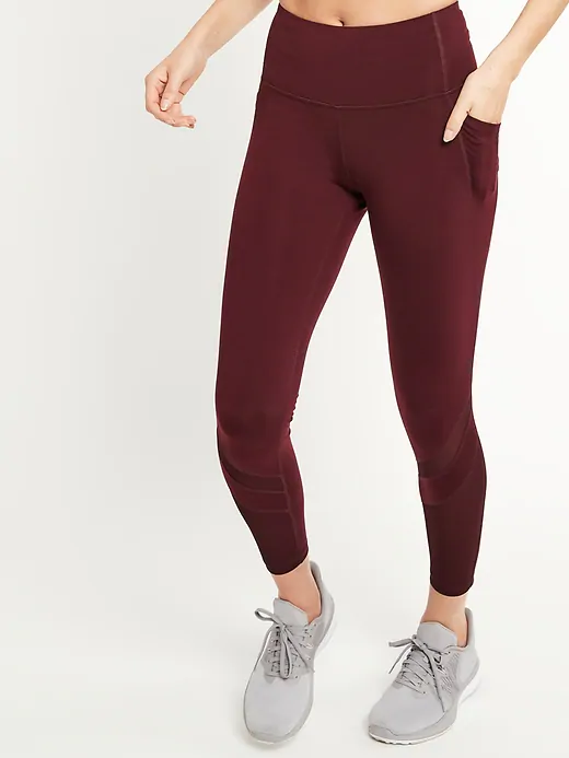 """<h3>Old Navy High-Waisted Elevate Side Pocket Mesh-Trim Compression Leggings</h3><br><br>Subtle mesh panels add a stylish, street-wear edge to these moisture-wicking leggings with dual pockets on each thigh for stashing essentials.<br><br><strong>Old Navy</strong> High-WaistedSide-Pocket Mesh-Trim Compression Leggings, $, available at <a href=""""https://go.skimresources.com/?id=30283X879131&url=https%3A%2F%2Foldnavy.gap.com%2Fbrowse%2Fproduct.do%3Fpid%3D552837022%26cid%3D1031032%26pcid%3D1031032%26vid%3D1%26nav%3Dmeganav%253AWomen%253AOld%2520Navy%2520Active%253AActivewear%2520Bottoms%26grid%3Dpds_36_261_1%26cpos%3D37%26cexp%3D1483%26kcid%3DCategoryIDs%253D1031032%26cvar%3D11131%26ctype%3DListing%26cpid%3Dres20092316683342177739060%26ak_t%3D2741914367A25402E0A6C7F2AB2D3F49B833951D295B000095956C5FC317284E%23pdp-page-content"""" rel=""""nofollow noopener"""" target=""""_blank"""" data-ylk=""""slk:Old Navy"""" class=""""link rapid-noclick-resp"""">Old Navy</a>"""