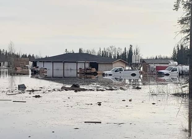 Paul Simon said his entire community was under water this weekend, as water from the Mackenzie River flooded Jean Marie River.