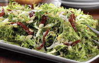 """<p>Almonds add a wonderful texture to green salads and are rich in vitamin E, fiber and biotin, which is helpful for hair growth. Almonds also contain nutrients that support the growth of healthy gut bacteria. Healthy gut, happy you. Toss some in this fresh endive salad with salty sun-dried tomatoes for a <a href=""""https://www.thedailymeal.com/recipes-weeknight-dinners-simple?referrer=yahoo&category=beauty_food&include_utm=1&utm_medium=referral&utm_source=yahoo&utm_campaign=feed"""" rel=""""nofollow noopener"""" target=""""_blank"""" data-ylk=""""slk:quick and easy dinner or lunch"""" class=""""link rapid-noclick-resp"""">quick and easy dinner or lunch</a>.</p> <p><a href=""""https://www.thedailymeal.com/best-recipes/curly-endive-salad-sun-dried-tomatoes-almonds?referrer=yahoo&category=beauty_food&include_utm=1&utm_medium=referral&utm_source=yahoo&utm_campaign=feed"""" rel=""""nofollow noopener"""" target=""""_blank"""" data-ylk=""""slk:For the Curly Endive Salad with Sun-Dried Tomatoes and Almonds recipe, click here."""" class=""""link rapid-noclick-resp"""">For the Curly Endive Salad with Sun-Dried Tomatoes and Almonds recipe, click here. </a></p>"""