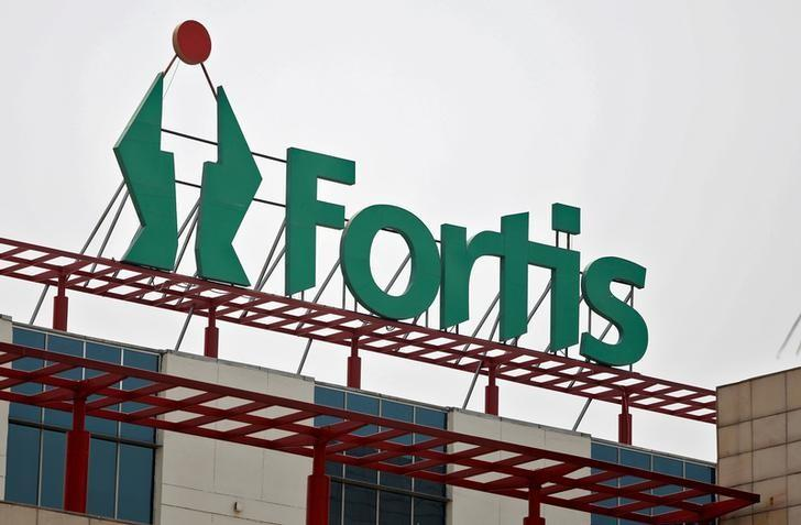 FILE PHOTO: A Fortis hospital building is pictured in Gurgaon