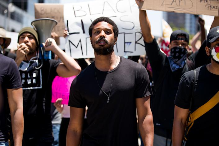 """Michael B. Jordan felt """"honored"""" to use his platform to speak out about shared loss and tragedy in 2020. (Photo: Getty Images)"""