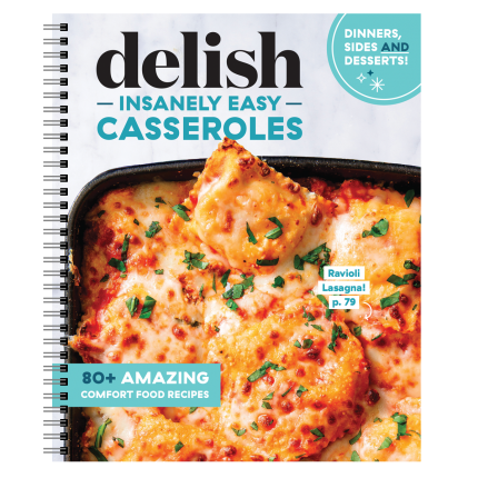 "<p>countryliving.com</p><p><strong>$24.95</strong></p><p><a href=""https://shop.countryliving.com/delish-insanely-easy-casseroles.html"" rel=""nofollow noopener"" target=""_blank"" data-ylk=""slk:Shop Now"" class=""link rapid-noclick-resp"">Shop Now</a></p><p>These crazy-delicious casserole recipes are easy enough to prepare any night of the week—and impressive enough to serve for a special occasion. You'll get recipes for dinner, appetizers, brunch, even dessert! Plus this spiral-bound cookbook includes full-page photos for each recipe and lays flat so you can keep both hands on cooking without losing your page.</p>"