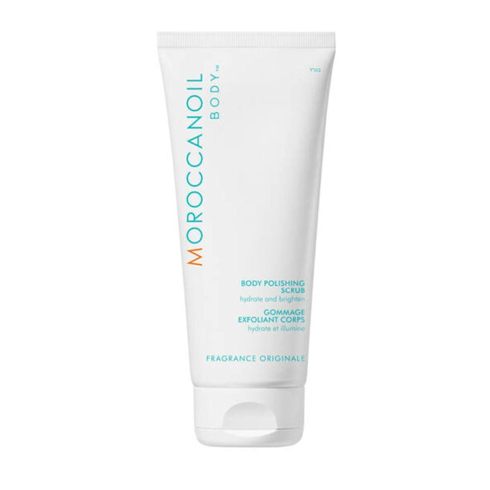 """<p>Just because summer is over doesn't mean you should slack on exfoliating. Thankfully, Moroccanoil's Body Polishing Scrub makes it easy not to skip the step as it feels so lovely on the skin and works wonders in mere seconds. Made with argan shell powder and lava stone pumice, it gently sloughs away excess dead skin, leaving behind ultra-soft and supple limbs.</p> <p><strong>$39</strong> (<a href=""""https://shop-links.co/1685090328570795953"""" rel=""""nofollow"""">Shop Now</a>)</p>"""