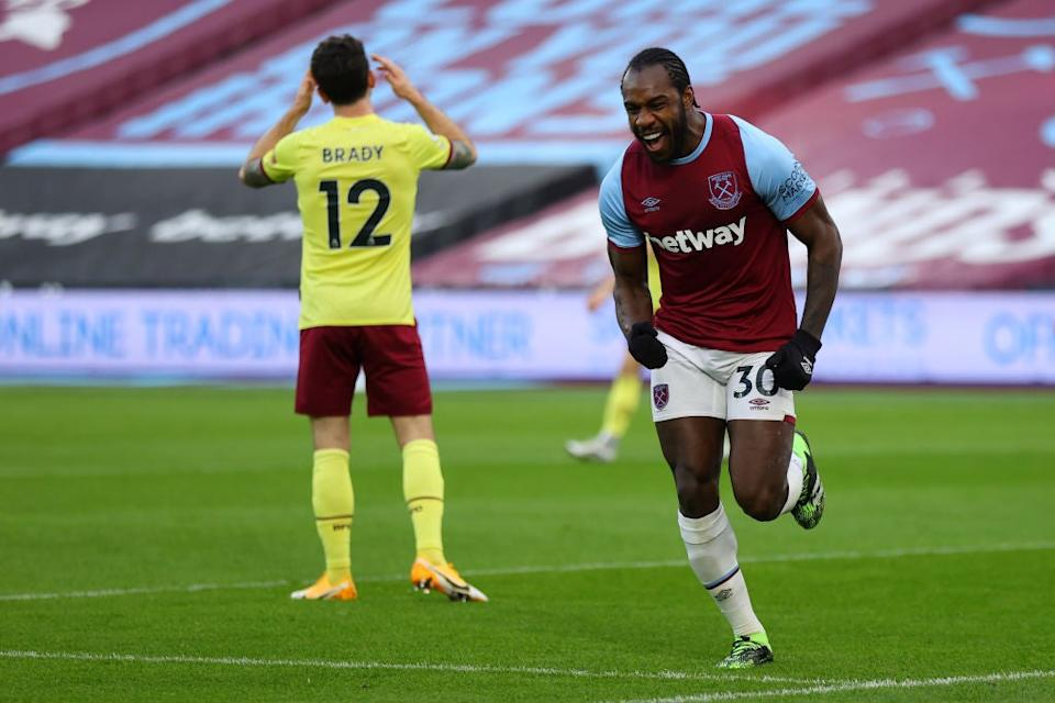 Michail Antonio celebrates for West Ham (Getty Images)