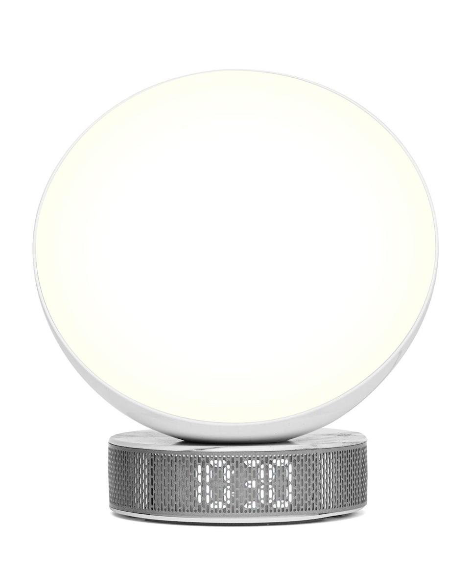 """<h3><a href=""""https://www.neimanmarcus.com/p/lexon-design-wake-up-light-alarm-clock-prod223700088"""" rel=""""nofollow noopener"""" target=""""_blank"""" data-ylk=""""slk:Lexon Design Wake-Up Light Alarm Clock"""" class=""""link rapid-noclick-resp"""">Lexon Design Wake-Up Light Alarm Clock</a></h3><br>This stylish wake-up gadget comes equipped with a sunrise simulator, six different natural alarm sounds, and a sleek LED clock screen. <br><br><strong>Lexon Design</strong> Wake-Up Light Alarm Clock, $, available at <a href=""""https://go.skimresources.com/?id=30283X879131&url=https%3A%2F%2Fwww.neimanmarcus.com%2Fp%2Flexon-design-wake-up-light-alarm-clock-prod223700088"""" rel=""""nofollow noopener"""" target=""""_blank"""" data-ylk=""""slk:Neiman Marcus"""" class=""""link rapid-noclick-resp"""">Neiman Marcus</a>"""