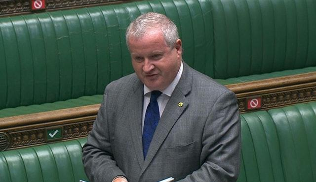 SNP Westminster leader Ian Blackford speaking during Prime Minister's Questions
