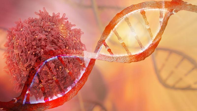 DNA helix with tumor
