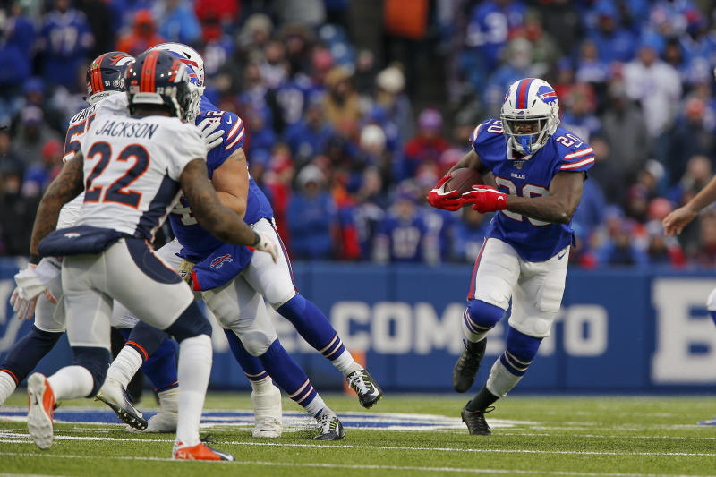 Historic day: Frank Gore moved into third place on the NFL's all-time rushing list on Sunday. (AP/John Munson)