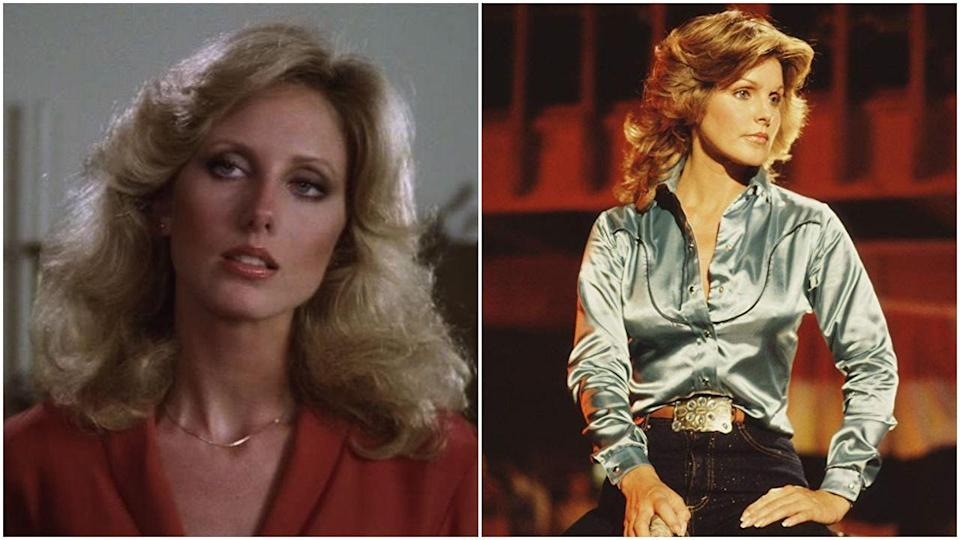 <p>Morgan Fairchild played Jenna for one episode of <em>Dallas,</em> until she was replaced by an actress named Francine Tacker for two episodes in 1980 (not pictured). Then, when Jenna made her triumphant return to the show in 1983, she arrived with Priscilla Presley's face. Truly a roller coaster of Jennas.</p>