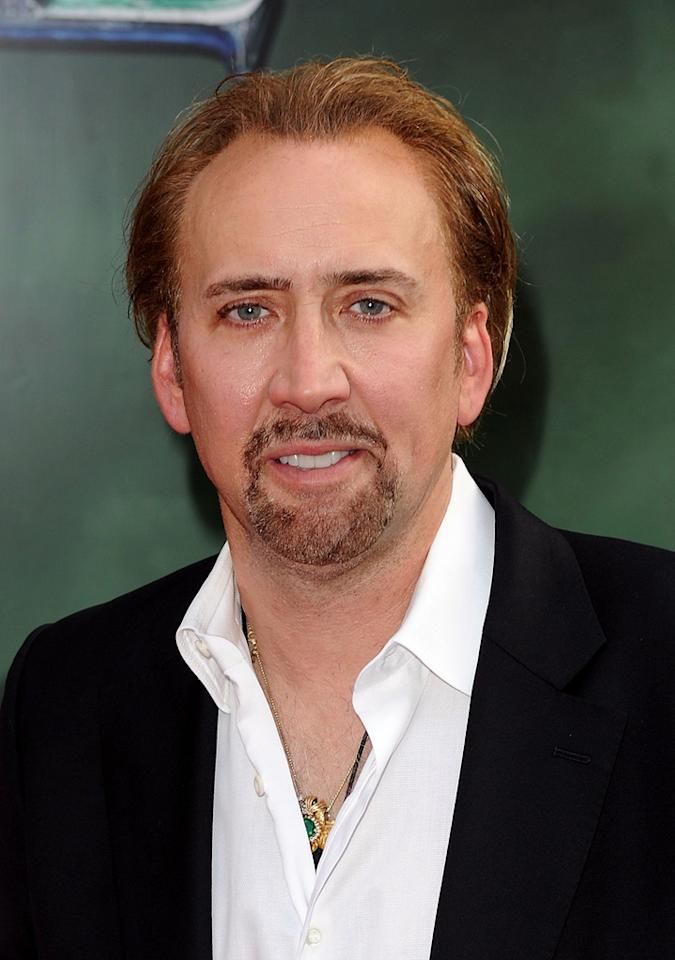 """<a href=""""http://movies.yahoo.com/movie/contributor/1800018581"""">Nicolas Cage</a> at the New York City premiere of <a href=""""http://movies.yahoo.com/movie/1810073953/info"""">The Sorcerer's Apprentice</a> - 07/06/2010"""