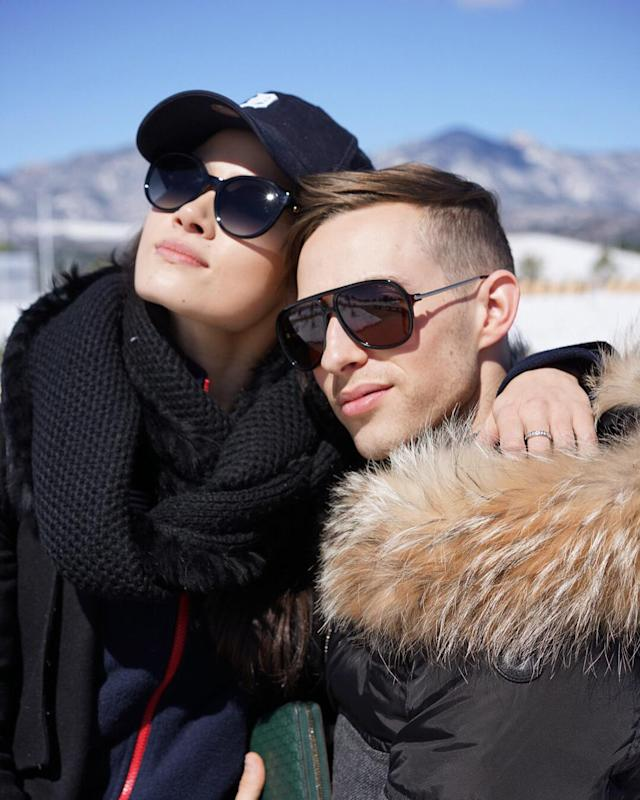 <p>She's also tight with fellow Team USA star Adam Rippon, even posting a 'Flashback Friday' series of photos with the 28-year-old skater dating all the way back to when they were still junior skaters.(Instagram/@chockolate02) </p>