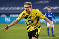 Erling Braut Haaland's brace in Borussia Dortmund's 4-0 Ruhr derby win over Schalke included one stunning acrobatic volley