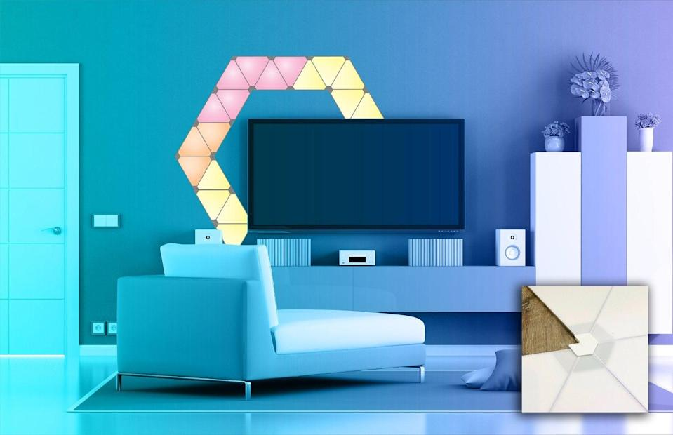 <p>The <span>Triangle Light Panel Wall Mount Brackets</span> ($20) will let you create the coolest accent wall. </p>