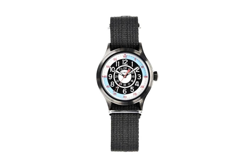 "$138, Todd Snyder. <a href=""https://www.toddsnyder.com/collections/sale/products/timex-blackjack-watch-black"" rel=""nofollow noopener"" target=""_blank"" data-ylk=""slk:Get it now!"" class=""link rapid-noclick-resp"">Get it now!</a>"