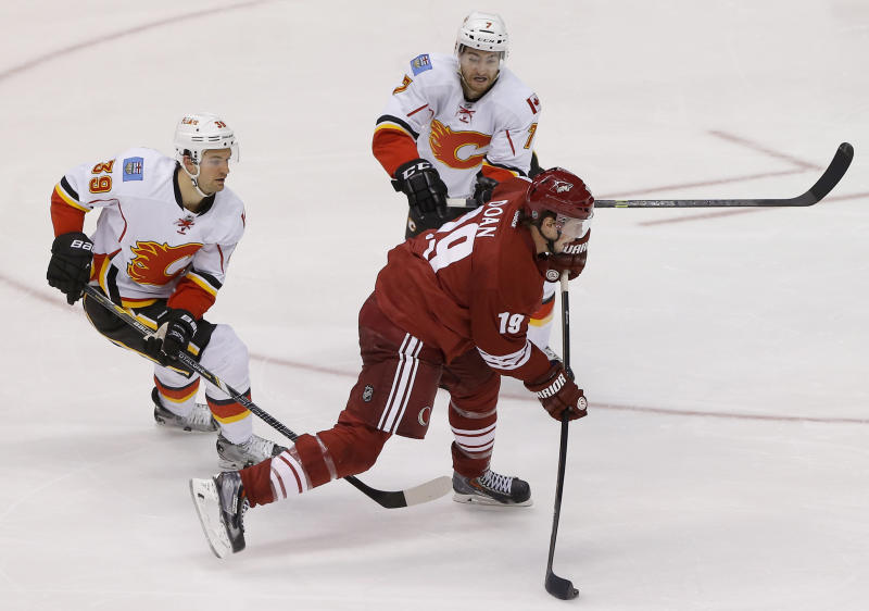 Coyotes beat Flames 3-2 on Doan's 350th NHL goal
