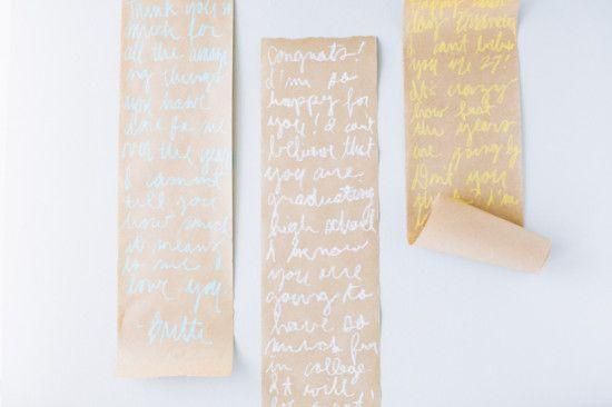 """<p>This cute an ingenious scroll idea is a great and stylish way to present the birthday girl or boy with a long, thoughtful list of all the things you love about them.</p><p><strong>Get the tutorial at <a href=""""https://www.papernstitchblog.com/make-this-diy-message-scroll-for-birthdays-graduation-and-fathers-day/"""" rel=""""nofollow noopener"""" target=""""_blank"""" data-ylk=""""slk:Paper and Stitch"""" class=""""link rapid-noclick-resp"""">Paper and Stitch</a>.</strong> </p>"""