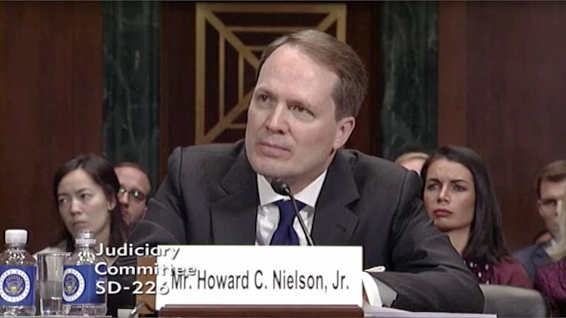 Howard Nielson, a lawyer who once questioned the impartiality of a gay judge, is about to become a judge himself. (Photo: C-SPAN)
