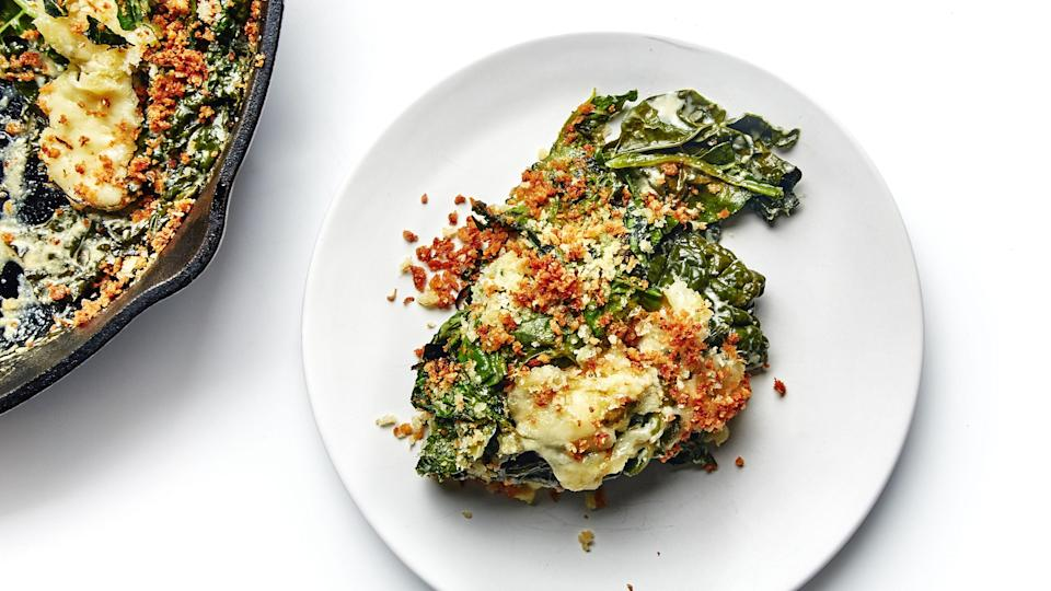"<a href=""https://www.bonappetit.com/recipe/greens-gratin-with-all-the-cheese?mbid=synd_yahoo_rss"" rel=""nofollow noopener"" target=""_blank"" data-ylk=""slk:See recipe."" class=""link rapid-noclick-resp"">See recipe.</a>"