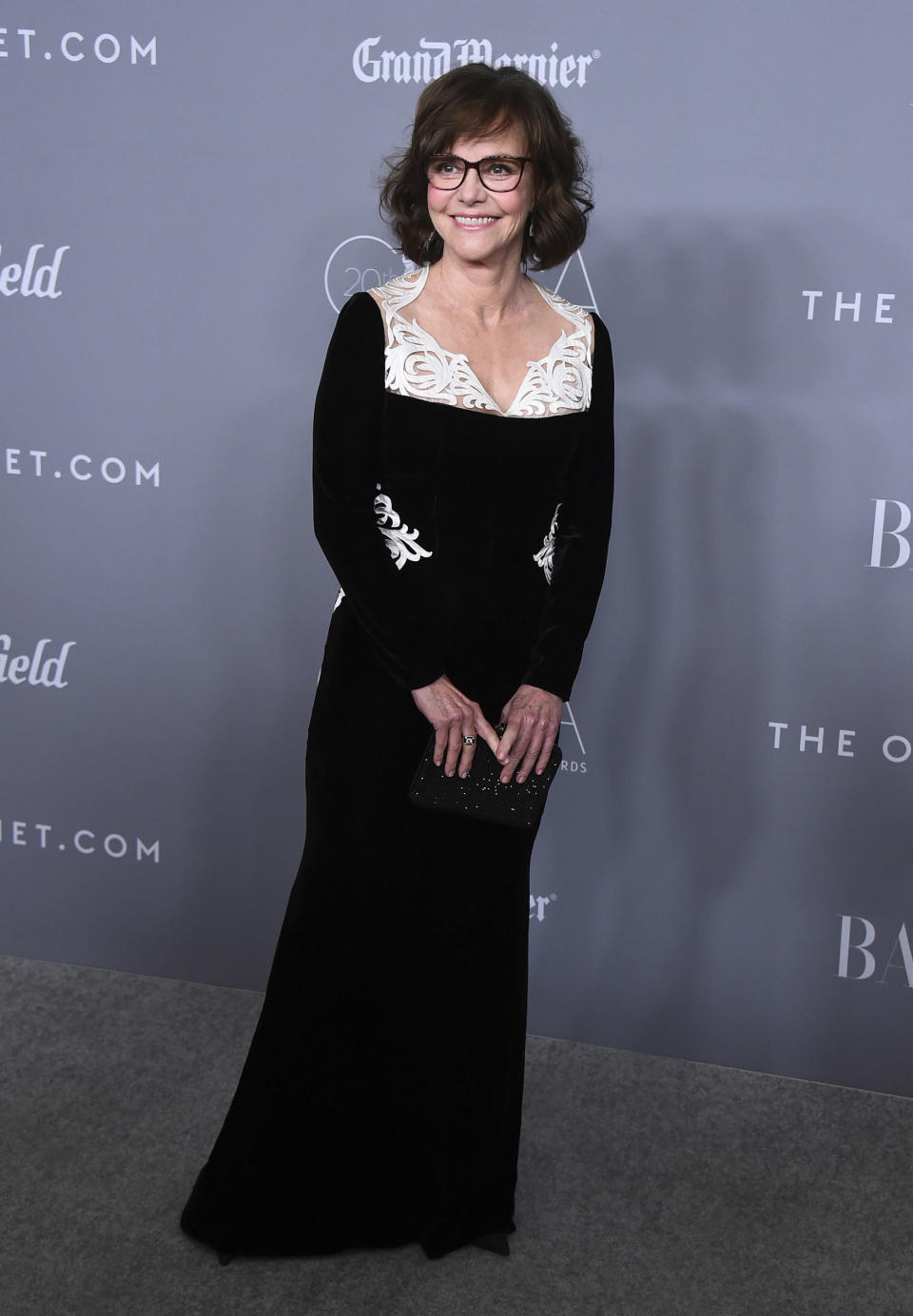 FILE - Sally Field arrives at the 20th annual Costume Designers Guild Awards on Feb. 20, 2018, in Beverly Hills, Calif. Field turns 74 on Nov. 6. (Photo by Jordan Strauss/Invision/AP, File)