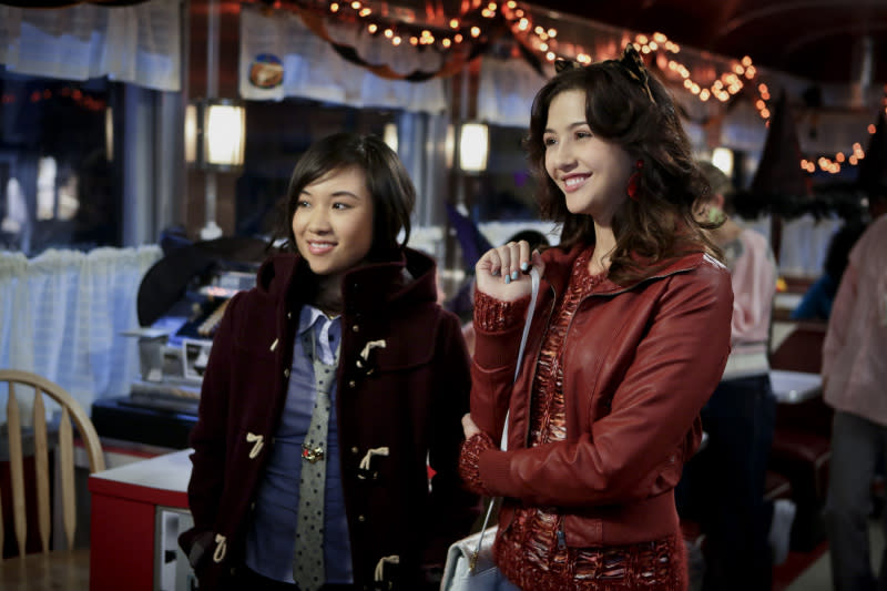 """Fright Night"" -- Ellen Wong as Mouse and Katie Findlay as Maggie"