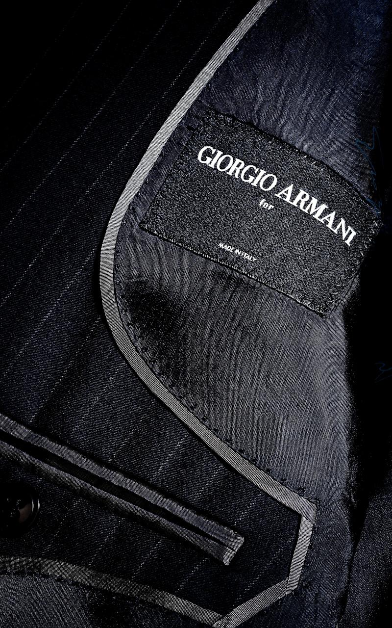 Giorgio Armani debuts made-to-measure suiting at his Sloane Street boutique
