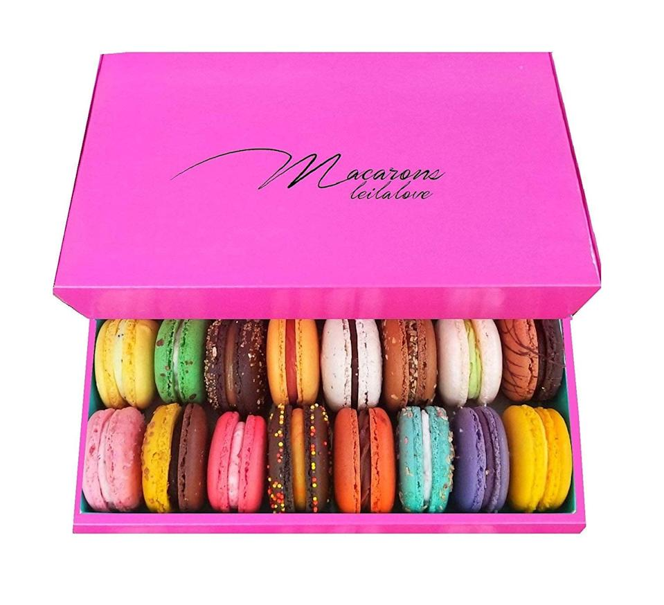 <p>Everyone deserves a fancy treat like these <span>Leilalove Macarons</span> ($40).</p>