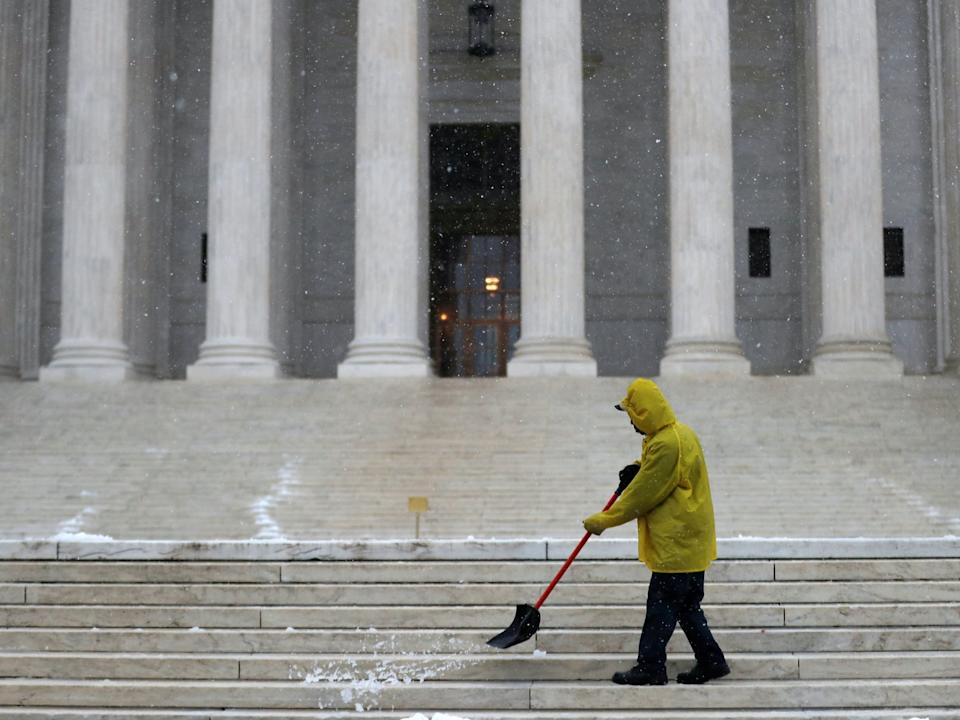 supreme court worker snow environment