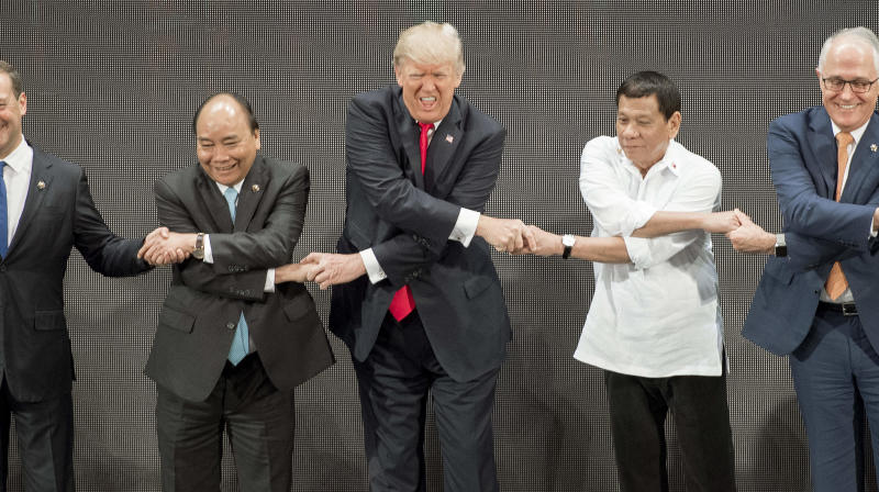 Trump's ASEAN Summit Handshake May Be His Most Ridiculous Yet