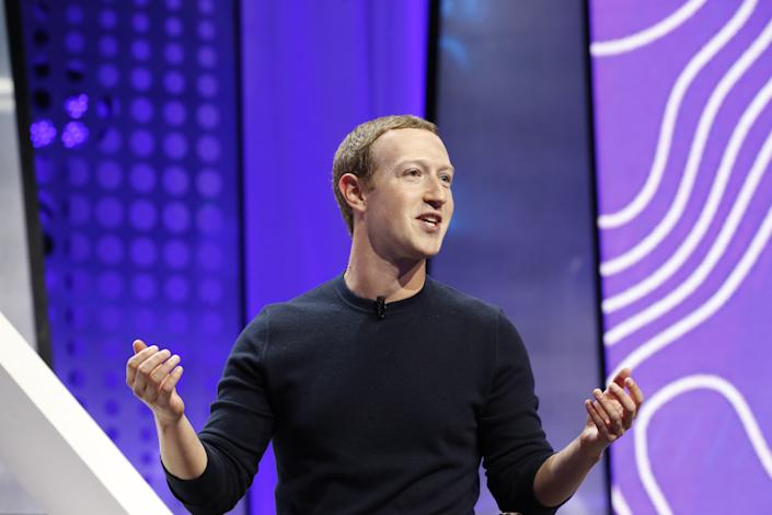 Mark Zuckerberg, chief executive officer and founder of Facebook Inc., speaks during the Silicon Slopes Tech Summit in Salt Lake City, Utah, U.S., on Friday, Jan. 31, 2020. (George Frey/Bloomberg via Getty Images)