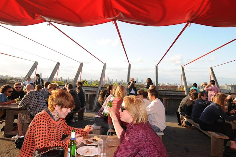 Stunning views: Thousands of people flock to Frank's, located above Peckhamplex, during the summer months (Danny Elwes)