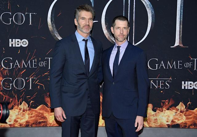 Game of Thrones show-runners D.B. Weiss and David Benioff (Credit: Evan Agostini/Invision/AP)