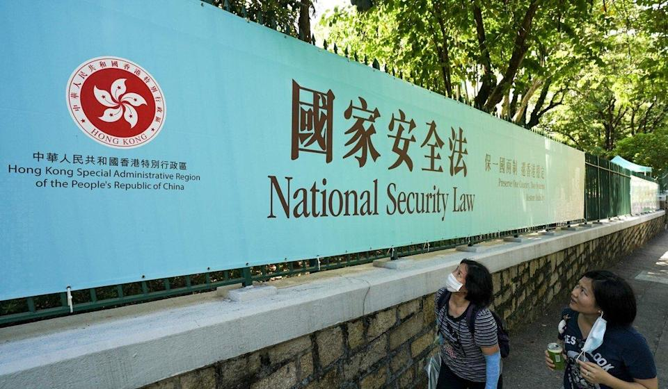 Liu Guangyuan on Wednesday praised the national security law that was imposed on Hong Kong last June. Photo: Felix Wong