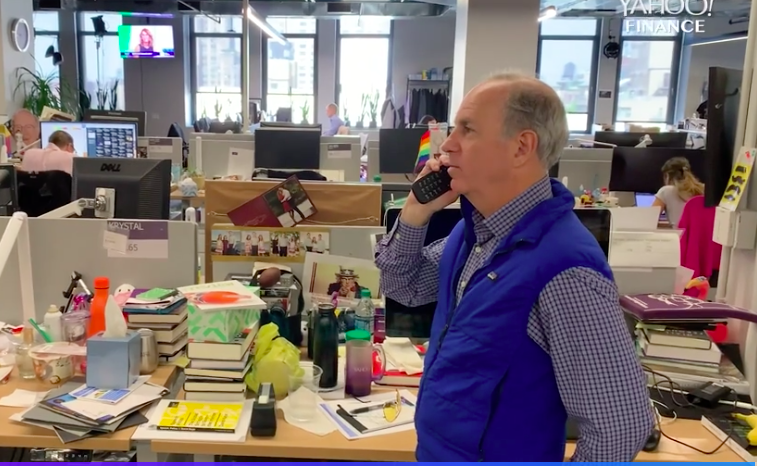 Yahoo Finance's Andy Serwer had to procure a flip phone for this experiment.