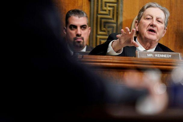 PHOTO: Sen. John Kennedy, R-La., questions judicial nominees during a hearing before the Senate Judiciary Committee on Capitol Hill in Washington, Dec. 4, 2019. (Joshua Roberts/Reuters, FILE)