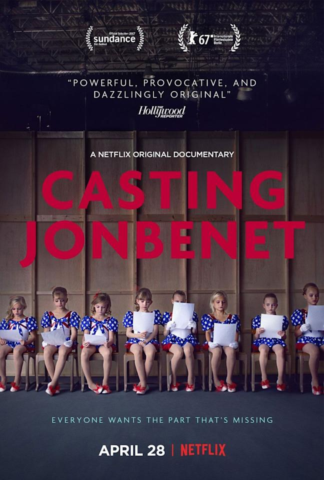 "<p>Nobody really knows who killed 6-year-old pageant girl JonBenet Ramsey (well, except for the person who actually did it), but everyone has their own theory. Local actors shared their personal connections to the Ramseys—as well as some hot takes—while they ""auditioned"" for a dramatization of the crime. This isn't what you typically expect from a documentary, which is what makes it so don't-even-blink intriguing.</p><p><a class=""body-btn-link"" href=""https://www.netflix.com/title/80142316?source=35"" target=""_blank"">Watch Here</a></p>"