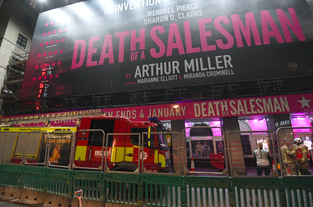 Witnesses described hearing screams from audience members, who had been watching Death Of A Salesman at the time (PA)