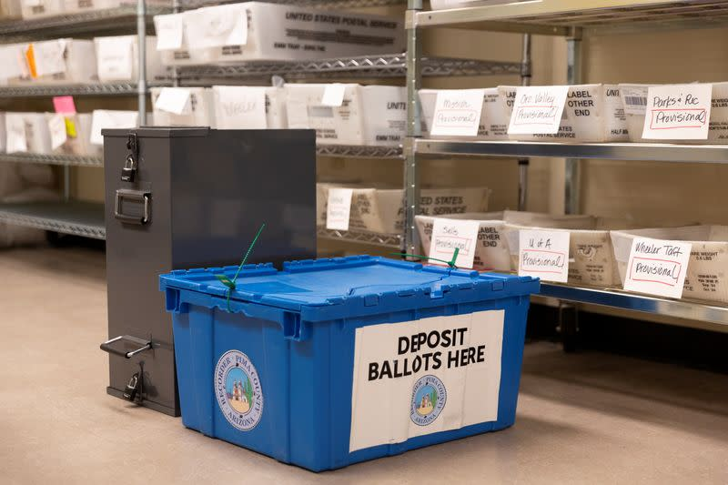 Ballots are counted and processed in Arizona